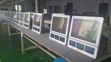 河北石家庄客户需求艾维图320台32寸楼宇双屏广告机