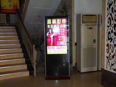 青岛某传媒公司200台42寸苹果款广告机应用案例
