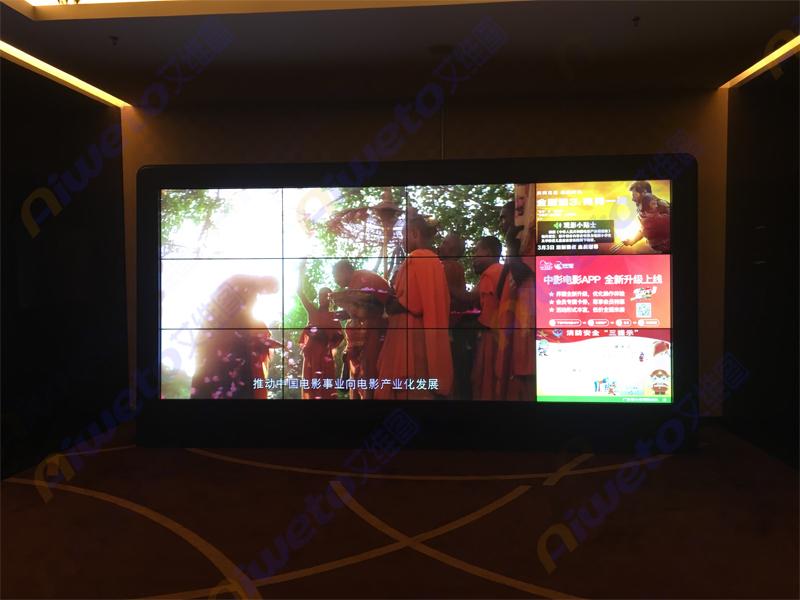艾维图12台液晶拼接屏进驻深圳市宝安区西乡港隆城中影国际影城