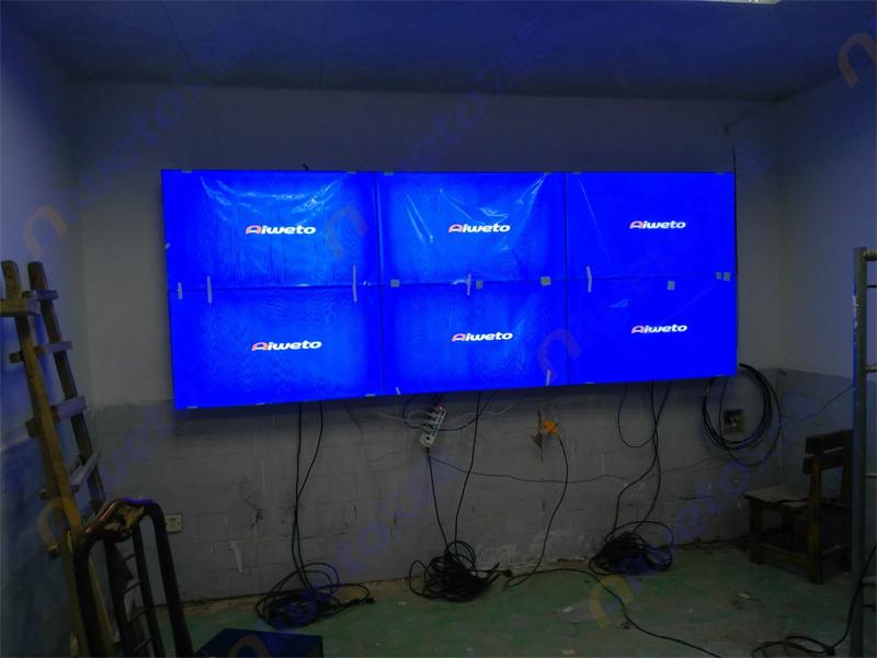 广西南宁江南宾馆监控室6台49寸液晶拼接显示屏