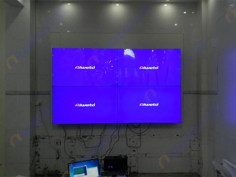 广西省玉林市陆川县公安局监控55寸液晶拼接大屏幕系统