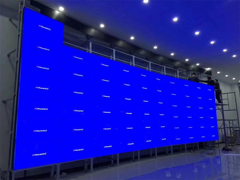 艾维图60台55寸液晶拼接大屏入驻贵州某政府单位