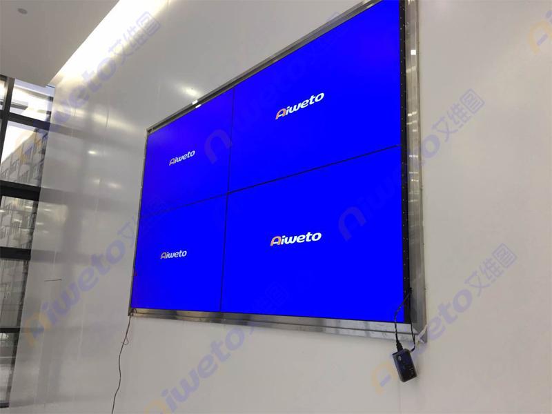 艾维图46寸拼接屏+55寸触摸一体机展厅应用:温州生能新能源科技