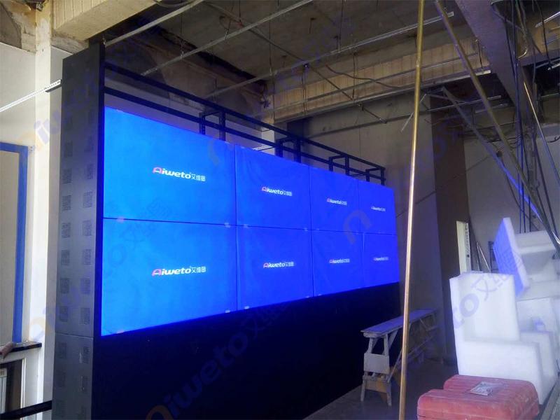 艾维图8台55寸液晶拼接屏应用:新疆铁路局哈密工务段监控室