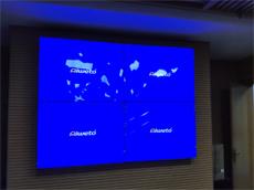 【广西会议室拼接屏】4台55寸超窄边拼接屏进驻广西南宁某企业视频会议室