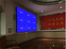 【派出所拼接屏项目】深圳市宝安区沙井壆岗派出所选用艾维图55寸拼接显示屏产品